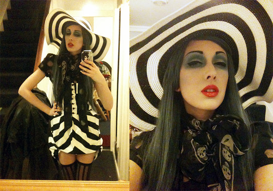 Anna Swiczeniuk - New Look Hat, Alexander Mcqueen Scarf, Primark Dress, H&M Blouse - Day of the Dead