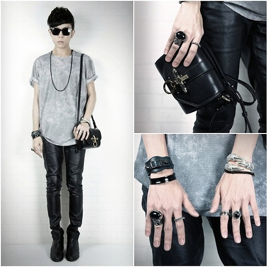 Curtis Yu - Givenchy Obsedia Bag, Yves Saint Laurent Ring, Balenciaga Bracelet, Cheap Monday Sunglasses - Edgy day