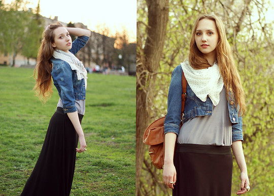 Katerine Shemyakina - New Look Skirt, New Look Cotton Jacket, Mango Bag - Associated with nature