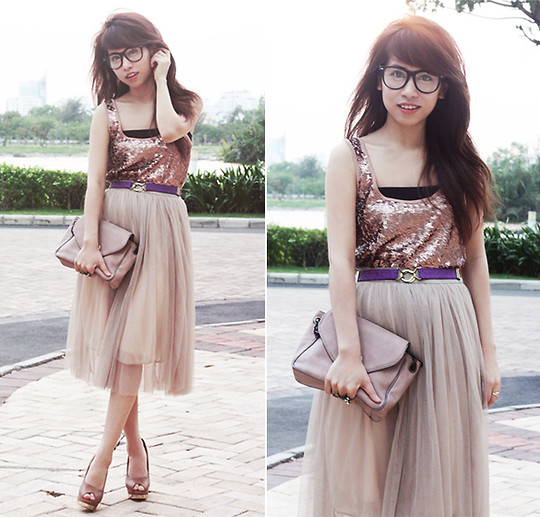 Linda Tran N - H&M Sequined Top, Nowzone (Vietnam) Skirt - He who wants a rose must respect the thorn