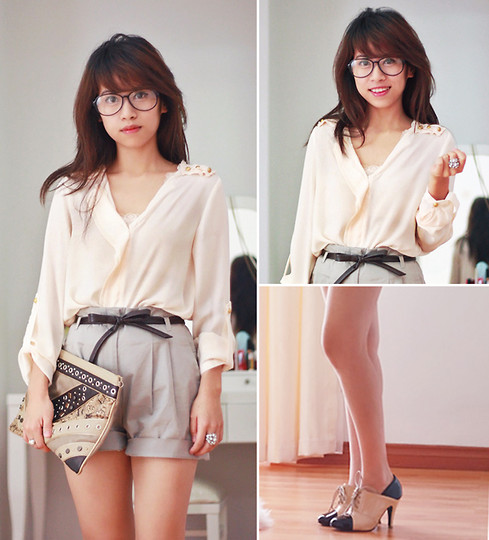Linda Tran N - Zara Shirt, H&M Shorts, Mango Clutch - My hopes are not always realized, but I always hope ♥