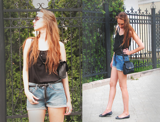 Katerine Shemyakina - Dorothy Perkins Bag, Zara Shoes, H&M Shorts, H&M Top - Hello