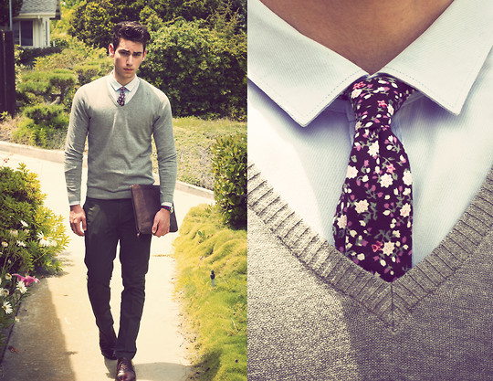 Edward Honaker - H&M Sweater, H&M Shirt, Ben Sherman Pants, Topman Tie, Bostonian Shoes - All the Flowers