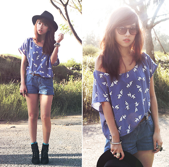 Linda Tran N - H&M Cropped T Shirt, Topshop Denim Shorts - Born to be wild - live to outgrow it.