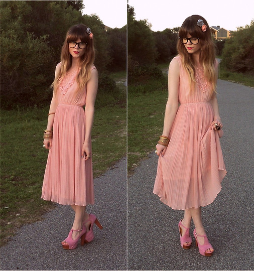 Claire Mcmanus - Chiffon Dress, Pink Heels - Rich Girls