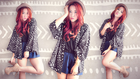 Hannah Tan - H&M Kimono, Jeffrey Campbell Litas, House Of Harlow Necklace - Tribal Instincts