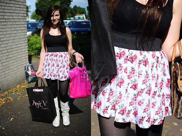 Ida Eriksson - Cool Cat Flower Skirt, H&M Top - Flowergirl