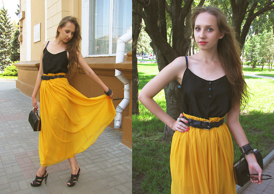 Katerine Shemyakina - Stradivarius Skirt, Vintage Bag, H&M Top, Mango Belt - Happy B-day, dear Katy )
