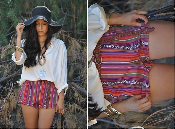 Rubi Ortiz - Vintage Floppy Hat - Keep your feet on the ground, when your heads in the clouds.