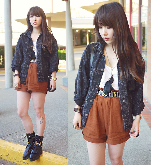 Ivy Xu - Levi's® Vintage Denim Jacket, Moschino Belt, Alexander Wang Boots - To the sky pass the moon through the galaxy