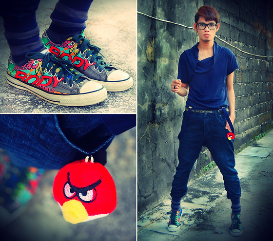 Rhonnel Tan Santos - Oxygen Shirt, Topman Carrot Jeans, Converse Shoes, Toy Store Angry Bird - My bird is angry