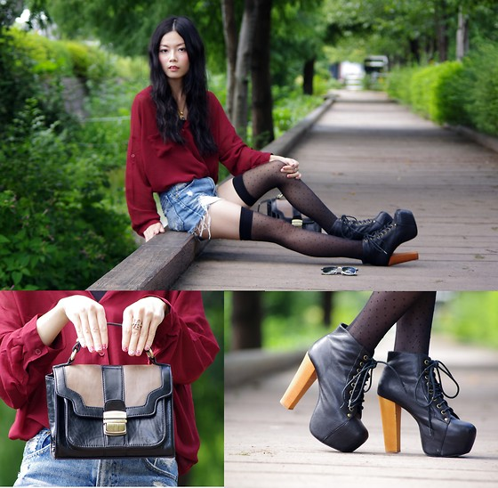 Nahoko Tsujita - Forever 21 Love Ring, Jeffrey Campbell Lita - Elegance and casual fashion of fall...