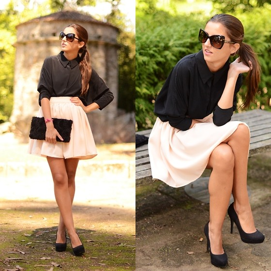 Alexandra Per - Queens Wardrobe Shirt, There She Goes Babe Skirt, Stradivarius Pumps, H&M Clutch, Tom Ford Sunglasses - She´s a lady