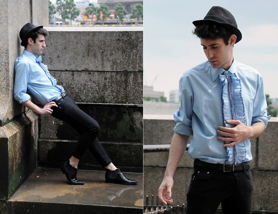 Adrian Cano - Vintage Shirt, Hat, Skinny Jeans, Boots - ...are you free?
