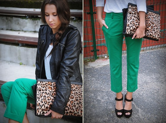 Patrycja R - Asos Trousers, Asos Shoes - GREEN TROUSERS