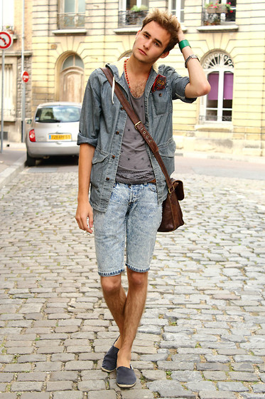 Pierre Colpart - Topman Denim Jacket, Asos Tank Top, Asos Short, Gola Custom Espadrilles, Topman Wristband - I will be there