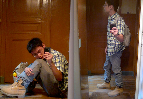 Aloy Chua - Linen Blend Button Down Shirt, Forever 21 Jeans, Timberland Boots - Goodbye to civilization.
