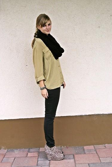 Willabelle Ong - Sheer Chiffon Shirt, Jeffrey Campbell