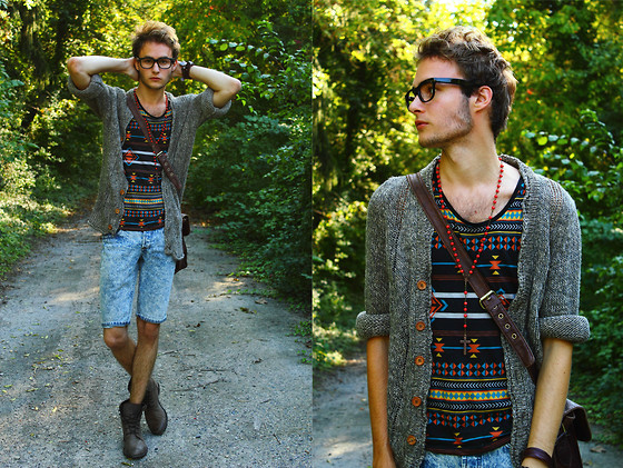 Pierre Colpart - Glasses, San Marina Boots, Zara Cardi, Topman Short, Asos Rosary, Asos Tank Top - We Never Change