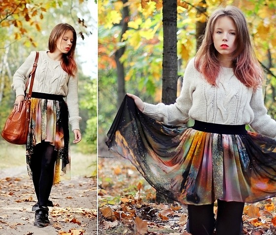 Wioletta Mary Kate - Romwe Skirt - So when you hear this autumn song...
