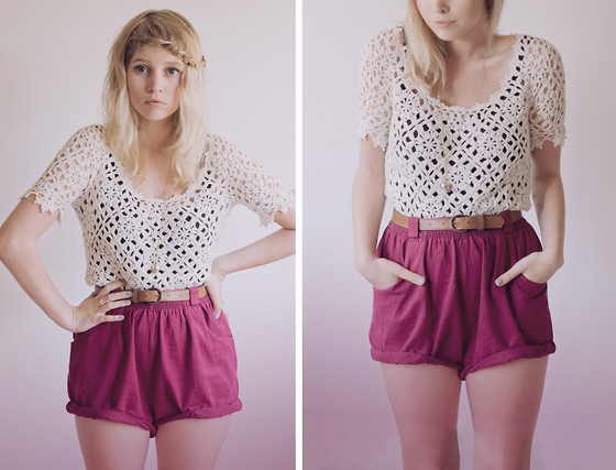 Amy S - Chic Wish Crochet Top, Wardrobe High Waist Shorts - Rush of blood to the head