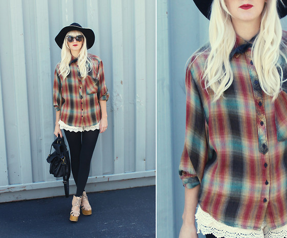 Kelli Murray Larson - Jeffrey Campbell Shoes, Urban Outfitters Shirt, Karen Walker Sunglasses - SEASONS CHANGE
