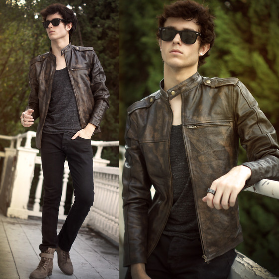 Adam Gallagher - Black Distressed Cafe Racer Jacket: Brad - The Viparo 2