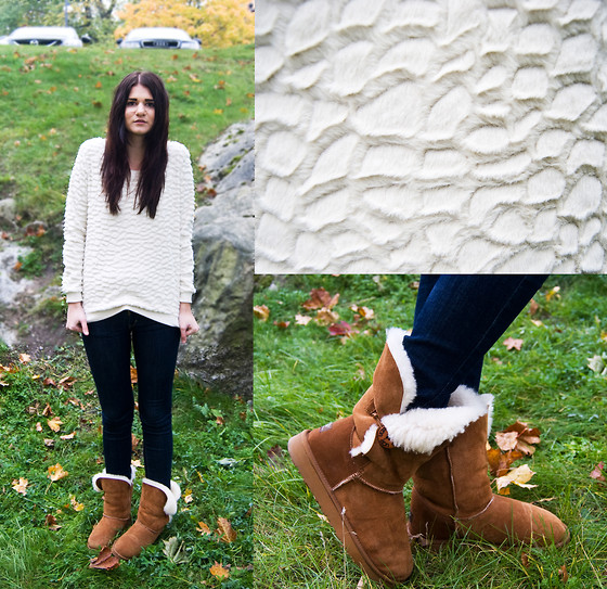 Emma Erixon - Zara Crocodile Fur Sweater, Levi's® Levis Curve Id, Ugg Uggs! - I didn't know that crocodiles had fur?