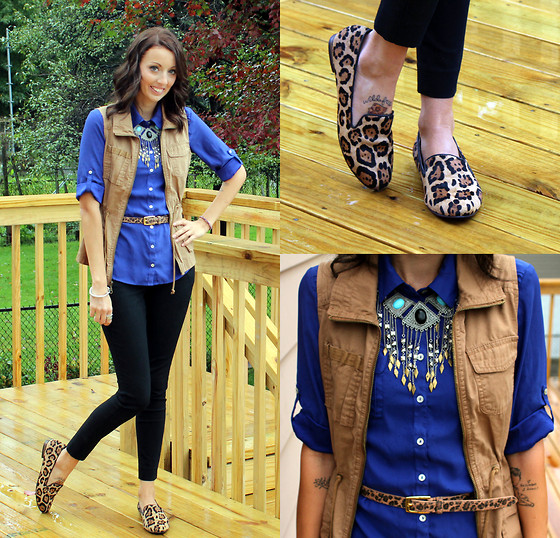 Erin Marie - Old Navy Top, Old Navy Vest, Steve Madden Loafers, Ruche Necklace, Asos Belt - Hey Hey, My My