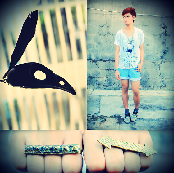 Rhonnel Tan Santos - Os Black Bird Skull, Nakitta Connector Rings, To The Same Beat Goes On Shirt - The Beat Goes On