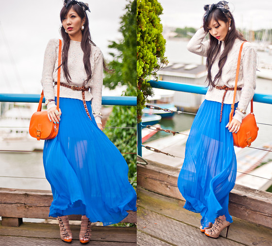 Rebecca Wang - Chanel Scarf, Urban Outfitters Sweater, Asos Maxi Skirt, Michael Kors Bag, Aldo Sandals - You never know