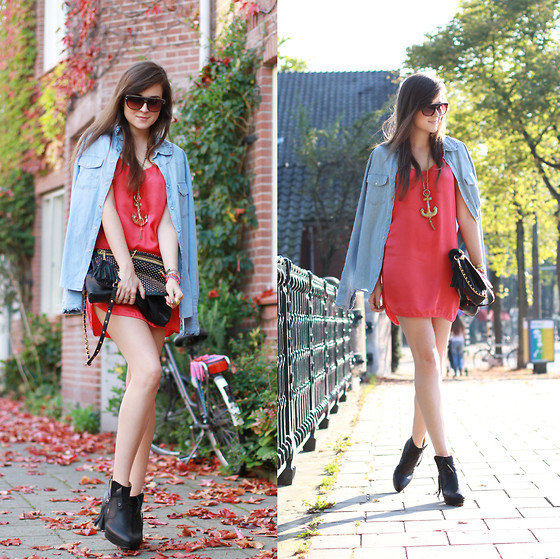 Andy T. - Rebecca Minkoff Bag, Acne Studios Boots, Acne Studios Denim Shirt - HEAT WAVE