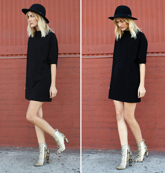 Marie Hindkær Wolthers - H&M Dress, Vintage Hat, Zara Boots - TIME TO FALL