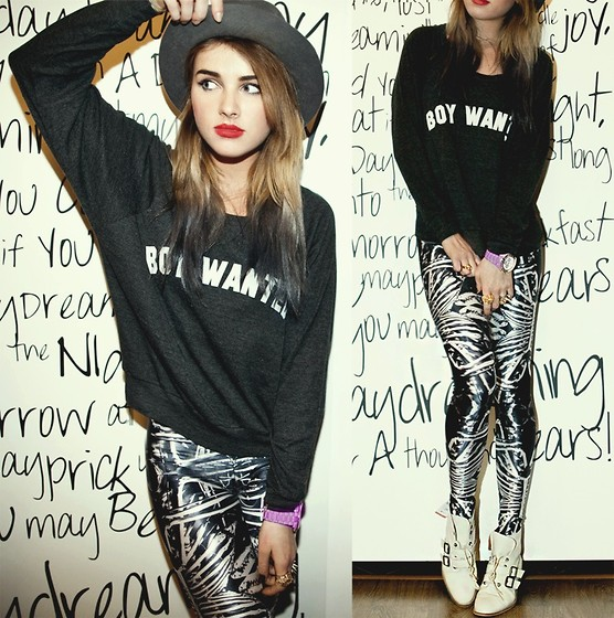 Juliett Kuczynska - Leggings, Blouse - The hives - hate to say i told you so / maffashion