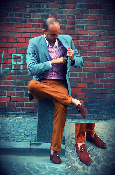 ALEX I - H&M Blazer, D's Damat Shirt, H&M Pants, Hush Puppies Loafers - I'm in love with brown :)
