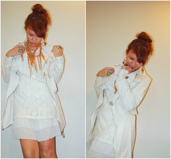 Mia Durano - Diy Chain Necklace, Thriftgasm Sweater Dress, Wagw Trench Coat - Baby its cold outside.