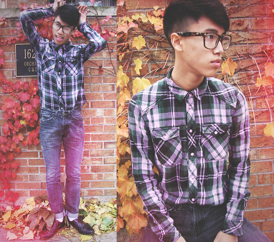 Steven Reeder - H&M Plaid Button Up, Pacsun Black Skinny Jeans - Haircut! ✄✂✄✂