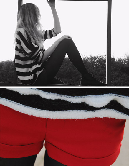 Zuzi * - Sweatr, Red Shorts - A perfect sweater