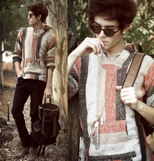 Adam Gallagher - Thick Woven Sweater For Sale, Urban O Backpack, Bernie Glasses - The Native