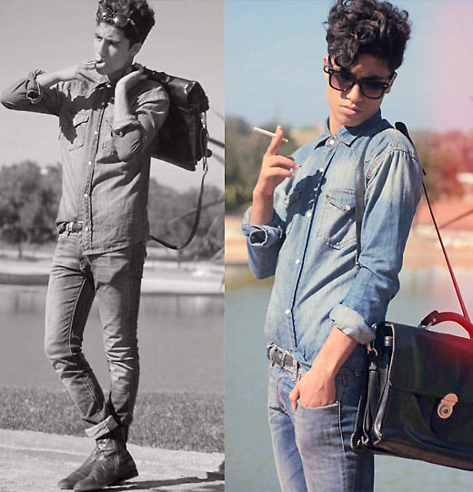 Ayoub Mani - Totaly Demin, Vintage Bag, Vintage Boot - BABY YOU'RE A ROCKSTAR