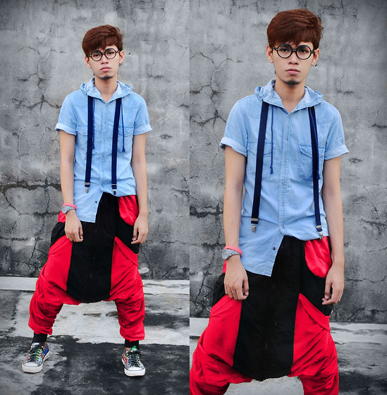 Rhonnel Tan Santos - Topman Shirt, Sm Department Store Suspenders, Bossini Pants - I am not common, I am limited edition.