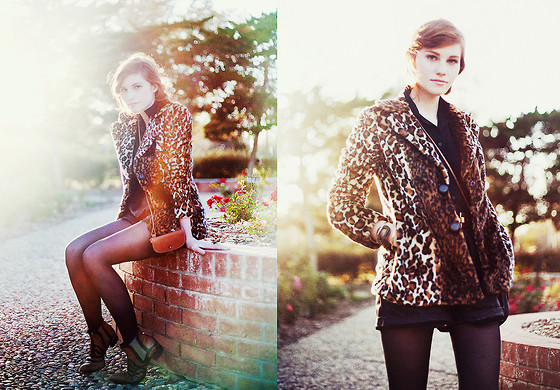 Rockie Nolan - Tulle Leopard Coat, Thrifted Vintage Boots - The rose garden