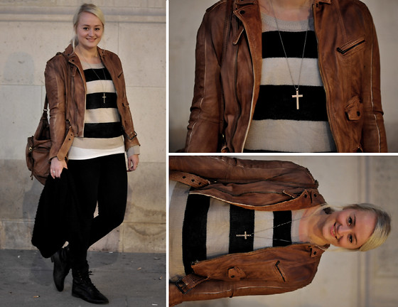 Debbie Nuchelmans - Zara Jacket, Fashionology Necklace, H&M Jumper, Asos Boots, Zadig & Voltaire Bag - The day's divinity