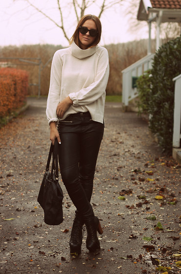 Emelia Gunnarsson - H&M Polo, H&M Leatherpants, Jeffrey Campbell Shoes - We are who we are