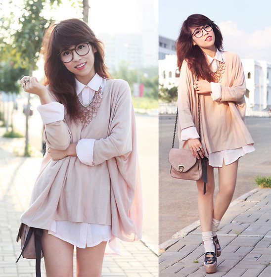 Linda Tran N - H&M Knit, Forever 21 Shirt Dress - Never run faster than your guardian angel can fly
