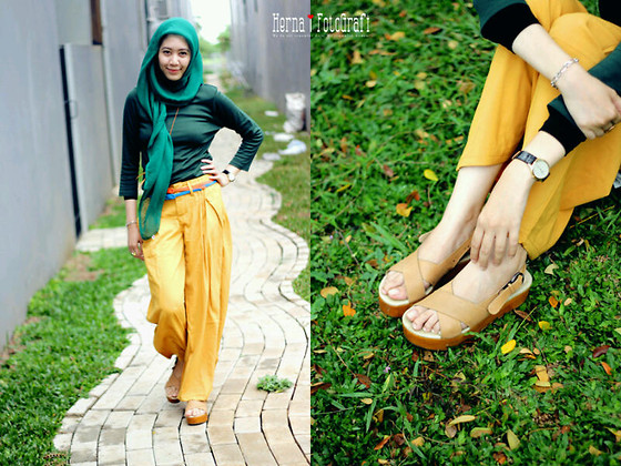 Debby Maharani - Zara Green, Sash Yellow, Happy Go Lucky Nude - Green Garden