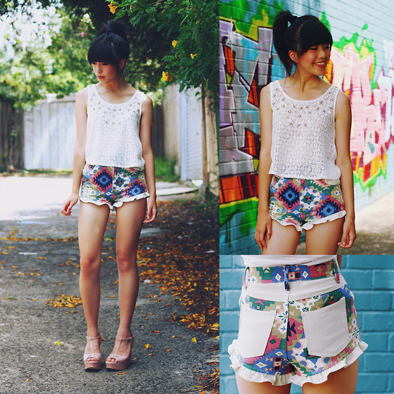 Connie Cao - Minkpink Shorts, Asos Shoes - Print