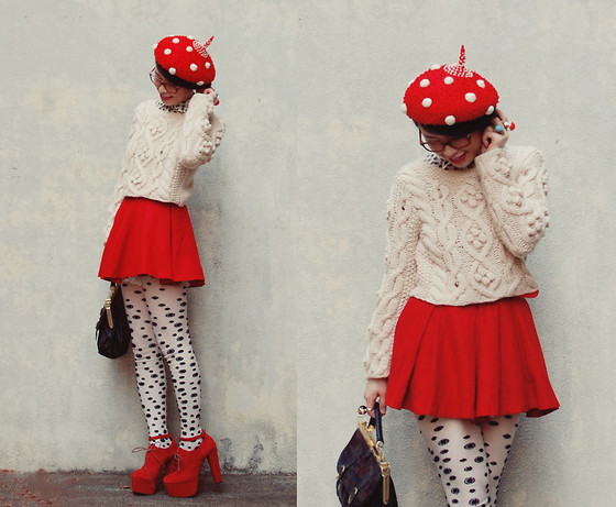 Shan Shan - Tinytoadstool Hat, Sweater, Skirt, Glasses - Hello tinytoadstool
