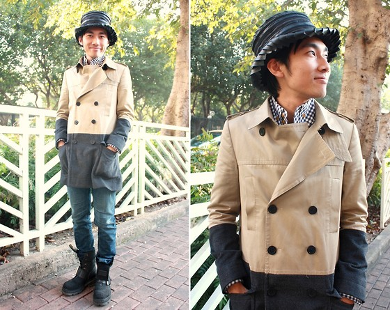 Kainam Leung - Nici Harmonic Hat, Stage Of Playlord Coat, A/X Jeans, New Rock Boot - One year left of Armageddon