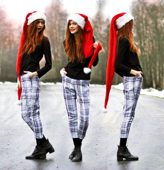 Ebba Zingmark - Romwe Pants, 2hand Shoes - MERRY XMAS LOOKBOOKERS! :D